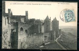 """CPSM S/w AK Frankreich,France Carcassonne 1905""""La Cite,Ensemble De La Porte D'Aude """" 1 AK Used,bef. - Carcassonne"""