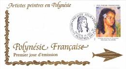 POLYNESIE FRANCAISE 1994 @ Enveloppe Premier Jour FDC Artistes Peintres En Polynésie Michelle Villemin - Fillette Fille - FDC