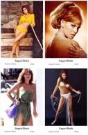 RAQUEL WELCH - Film Star Pin Up - Publisher Swiftsure Postcards 2000 SET 161-64 - Artistes