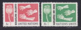 NATIONS UNIES NEW-YORK N°  127 & 128 * MLH Neufs Avec Charnière, TB  (D1352) - New-York - Siège De L'ONU