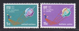 NATIONS UNIES NEW-YORK N°  137 & 138 * MLH Neufs Avec Charnière, TB  (D1353) - New-York - Siège De L'ONU