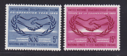 NATIONS UNIES NEW-YORK N°  139 & 140 (*) Neufs Sans Gomme, TB  (D1354) - New-York - Siège De L'ONU
