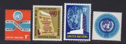 NATIONS UNIES NEW-YORK N°  141 à 144 * MLH Neufs Avec Charnière, TB  (D1356) - New-York - Siège De L'ONU