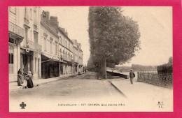 37 INDRE-et-LOIRE CHINON, Quai Jeanne D'Arc, Animée, Commerces, Précurseur, (MTIL, CCCC) - Chinon