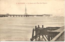 ANGLET - Bayonne - La Barre Et La Tour Des Signaux - Dames De France 8 - écrite Et Timbrée - Tbe - Anglet