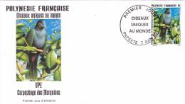 POLYNESIE FRANCAISE 1995 @ Enveloppe Premier Jour FDC Oiseau Unique Au Monde UPE Carpophage Marquises - Tahiti Papeete - FDC