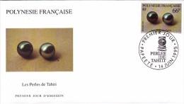 POLYNESIE FRANCAISE 1995 @ Enveloppe Premier Jour FDC Paire De Perles Noires - Tahiti Papeete - Bijou - FDC