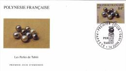 POLYNESIE FRANCAISE 1995 @ Enveloppe Premier Jour FDC Ensemble De 8 Perles - Tahiti Papeete - Bijou - FDC
