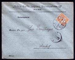 A3666) Ungarn Hungary Drucksache Von Fiume 20.12.1902 Nach Karbitz - Ungarn