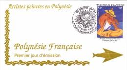 POLYNESIE FRANCAISE 1995 @ Enveloppe Premier Jour FDC Artiste Peintre Philippe Dubois - Tahiti Papeete - FDC