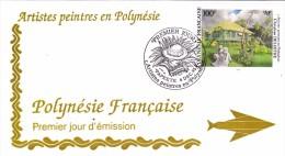 POLYNESIE FRANCAISE 1995 @ Enveloppe Premier Jour FDC Artiste Peintre Christian Deloffre - Tahiti Papeete - FDC