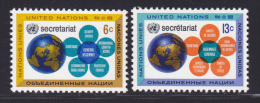 NATIONS UNIES NEW-YORK N°  175 & 176 ** MNH Neufs Sans Charnière, TB  (D1361) - New-York - Siège De L'ONU