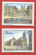 ITALIA REPUBBLICA MNH - 1989 - Piazze D'Italia - 3ª Emissione - £ 400 X 2 - S. 1861 1862 - 6. 1946-.. Repubblica