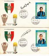 FDC INTER   AJMAN 1968 - Calcio