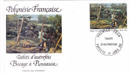 POLYNESIE FRANCAISE 1996 @ Enveloppe Premier Jour FDC Bocage à Punaauia - Tahiti Papeete - FDC