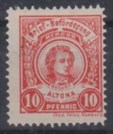 MB 3405) Stadtpost Brief-Beförderung Altona **: MOZART, Komponist - Musik