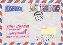 Bratislava-Brno - Praha Marianske Lazne - Slov Air 1972 - Airmail