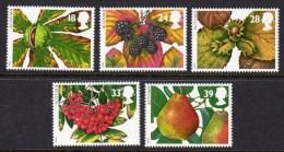 GREAT BRITAIN GB - 1993 FOUR SEASONS AUTUMN SET (5V) FINE MNH ** SG1779-1783 - Fruits