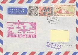Bratislava Lucenec Sliac Bratislava Slov Air 1972 - Airmail