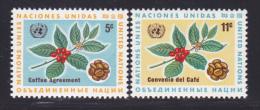 NATIONS UNIES NEW-YORK N°  153 & 154 * MLH Neufs Avec Charnière, TB  (D1368) - New-York - Siège De L'ONU