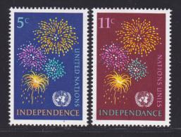 NATIONS UNIES NEW-YORK N°  163 & 164 * MLH Neufs Avec Charnière, TB  (D1372) - New-York - Siège De L'ONU