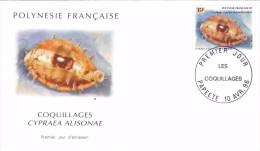 POLYNESIE FRANCAISE 1996 @ Enveloppe Premier Jour FDC Coquillages Cypraea Alisonae - Tahiti Papeete - FDC