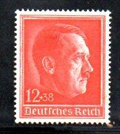 TERZO REICH 1938 , Compleanno Hitler Unificato N.  607  * - Germania