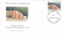 POLYNESIE FRANCAISE 1996 @ Enveloppe Premier Jour FDC Coquillages Vexillum Roseotinctum - Tahiti Papeete - FDC