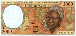 East African States - Afrique Centrale Gabon 2000 Billet 2000 Francs Pick 403 G Neuf 1er Choix UNC - Gabon