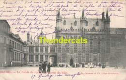 CPA BRUGGE BRUGES  LE PALAIS JUSTICE ET L'HOTEL DE VILLE - Brugge