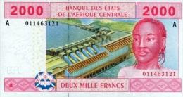 East African States - Afrique Centrale Gabon 2002 Billet 2000 Francs Pick 408 Neuf 1er Choix UNC - Gabon