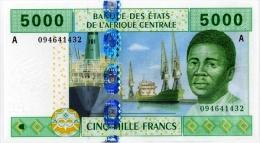 East African States - Afrique Centrale Gabon 2002 Billet 5000 Francs Pick 409 Neuf 1er Choix UNC - Gabon