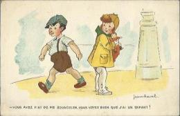 4589 CPA Humoristique - Couple D'enfants - Illustrateur Jean Cheval - Cheval