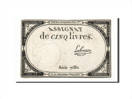 France, 5 Livres, 1793, 1793-10-31, Labrosse, KM:A76, TB+, Lafaurie:171 - Assignats