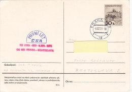 CSA TU134a Praha-Bratislava 1971 - Airmail