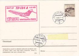 CSA TU134a Bratislava-Praha 1971 - Airmail