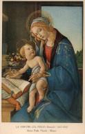 CPA LA VERGINE COL FIGLIO - BOTTICELLI - Peintures & Tableaux