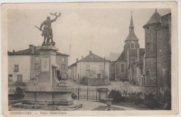 CPSM SOMMEVOIRE (Haute Marne) - Place Notre Dame - Frankreich
