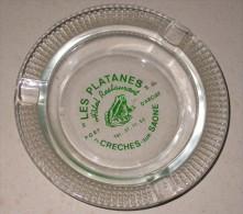 Cendrier Hôtel Restaurant Les Platanes - Crèches Sur Saône - Port D'Arciat - Grenouilles - Cendriers