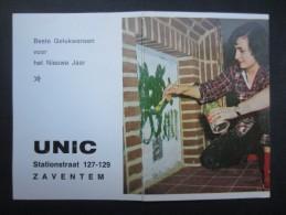 CALENDRIER 1967 (M1513) UNIC (2 Vues) ZAVENTEM Stationstraat 127-129 * Imp. J. De Smet Bruxelles 14 - Petit Format : 1961-70