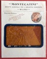 AMBULANTE  MILANO GENOCVA 4  *  SU 20 C. MICHETTI  BUSTA MONTECATINI INDUSTRIA MINERARIA IN DATA 18/3/1918 - Marcophilia