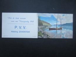 CALENDRIER 1968 (M1513) P.V.V. (2 Vues) Afdeling Zaventem * Lac Léman - Petit Format : 1961-70