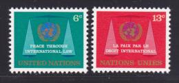 NATIONS UNIES NEW-YORK N°  191 & 192 ** MNH Neufs Sans Charnière, TB  (D1378) - New-York - Siège De L'ONU