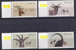 ANIMALES - AFRICA DEL SUR 1980 - Yvert #429/31 - MNH ** - Animalez De Caza