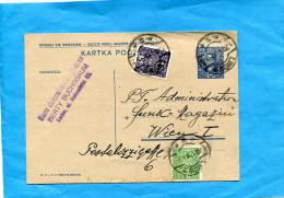 MARCOPHILIE-lcarte Entier Postal 15zl-Sienkiewicz-cad 1932 Pour Autriche+complét Afft 2 Stamps - Ganzsachen