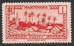 Martinique, 1 C. 1933, Sc # 133, MH. - Martinique (1886-1947)