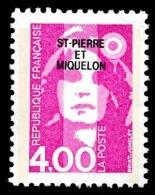 ST-PIERRE ET MIQUELON 1992 - Yv. 556 **   Faciale= 0,61 EUR - Mar.Bicentenaire 4f Rose ..Réf.SPM11090 - Neufs