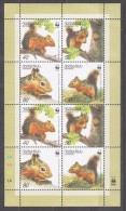 Armenia 2001 Armenien Mi 435-438klb WWF. Worldwide Conservation: Caucasian Squirrel **/MNH - Unused Stamps