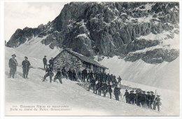 Chasseurs Alpins En Manoeuvres - Halte Au Chalet Du Vallon (Briançonnais)  (83454) - Non Classés