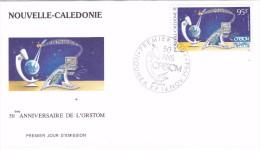 NOUVELLE CALEDONIE 1994 @ Enveloppe Premier Jour FDC 50 Ans ORSTOM  - Poste Aérienne - FDC